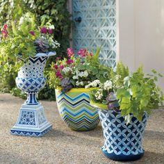 gorgeous garden planters brighten up that outdoor space!