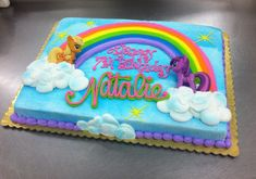 Little Pony Rainbow Sheet cake by Stephanie Dillon, LS1 Hy-Vee