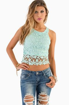Have A Daisy Day Crop Top $26 at www.tobi.com