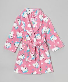 Take a look at this Pink Hello Kitty Stars Robe - Toddler & Girls by Hello Kitty on #zulily today!