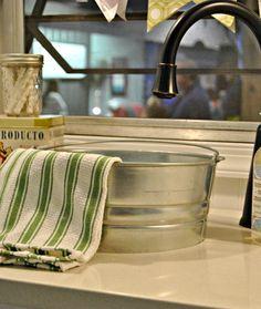 Galvanized bucket sink for my dream camper