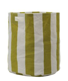 Citron Stripe Storage Bin by Pehr Designs | at Amelia