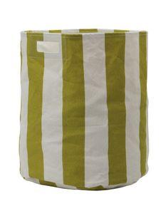 Citron Stripe Storage Bin by Pehr Designs