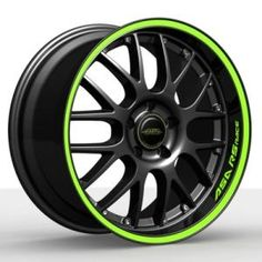 ASA RS-Race black with green circle and logo Wheel possibly for my future Subie Jdm Wheels, Truck Wheels, Chrome Wheels, Rims For Cars, Rims And Tires, Honda Fit, Green Circle Logo, Wrx Mods, Truck Rims