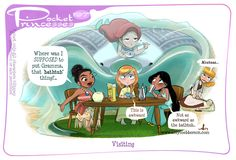 Pocket Princesses 197: Visiting Please reblog, don't repost, edit or remove captions Facebook - Instagram