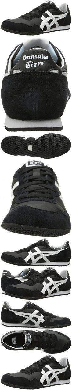 Onitsuka Tiger Serrano Classic Running Shoe, Black/White, 12.5 M US