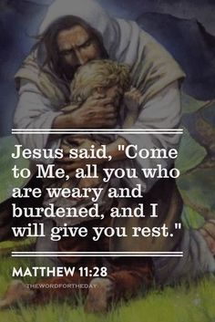 When you are weary, Jesus can give you rest. Prayer Quotes, Bible Verses Quotes, Jesus Quotes, Bible Scriptures, Faith Quotes, Jesus Sayings, Bible Verses About Stress, Jesus Pics, Religious Quotes