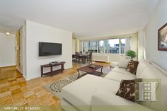 Upper Westside, NYC. 2BR Virtually Staged. Click to see unstaged.