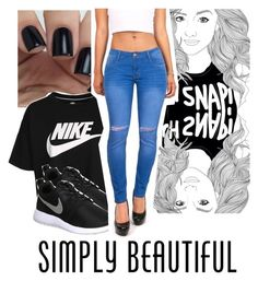 """Simply Beautiful"" by miaboo23 ❤ liked on Polyvore featuring NIKE and Machine"