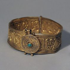 ~ Bracelet Opening on a Hinge. Place of origin: Golden Horde Date: 14th century Medium: gold