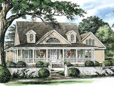Farmhouse House Plan with 2298 Square Feet and 4 Bedrooms(s) from Dream Home Source | House Plan Code DHSW04386