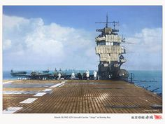 flight deck scene HIJMS Akagi in 1942. by umbry101, via Flickr