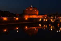 Castel Sant'angelo at night Photo by Yuranny C. — National Geographic Your Shot