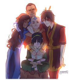 nikadonna:  some gaang group hug :)