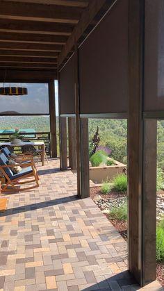 Solar screens create an amazing outdoor living area! Solar screens create an amazing outdoor living area! Backyard Patio, Backyard Landscaping, Landscaping Around Deck, Backyard Shade, Diy Patio, Outdoor Living Areas, Living Spaces, Modern Outdoor Living, Outside Living