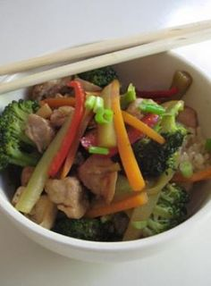 5. Chicken and Broccoli Stir Fry - Make-Ahead Freezer Meals - Fit Pregnancy - Page 6