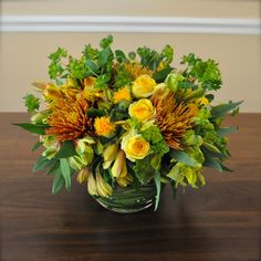 Autumn Spirit as a thank you arrangement for a friend.