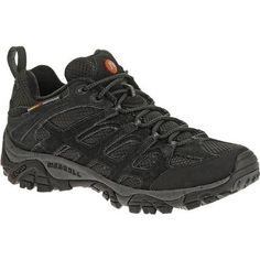 The men's Moab Ventilator from Merrell is a breathable hiking shoe that's lightweight and the perfect fit for hiking or biking trails. A lattice-like overlay of Dura leather strapping supports and protects your feet while enhancing the open-window venting of the breathable mesh upper in these multi-sport men's athletic shoes.