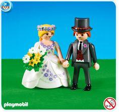 Playmobil como muñecos de tarta: Modelo Novios