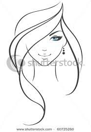 Image result for flowing hair silhouette