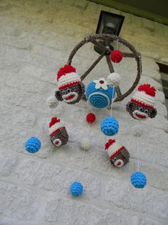 Crochet Monkey Mobile by ProudChildCrochet on Etsy, $110.00