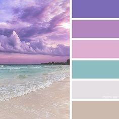 Shades Of Purple Clouds Over The Ocean Color Schemes Colour Palettes, Colour Pallette, Color Palate, Color Combos, Vintage Color Schemes, Purple Color Schemes, Room Colors, House Colors, Paint Colors