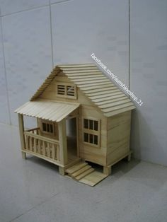 Two-Story Popsicle Stick House