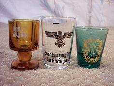 Three German Shot Glasses by ECCENTRICRON on Etsy