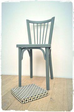 "Chaise Bistrot Vintage Baumann ""53"" Revisitée"