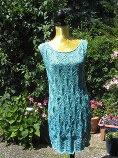 Türkis-Grünes Kleid von Meine Strickerei auf DaWanda.com