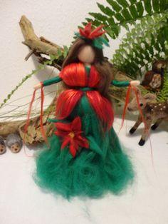 °°°Weihnachtsstern  Fee  Engel Filz Waldorf Jahreszeitentisch Märchenwolle°°°