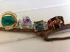 Wire wrap crazy with rings