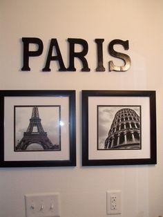 PARIS themed bathroom HGTV