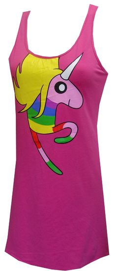 Adventure Time Lady Rainicorn Bubblegum Pink Nightgown Who doesn't love Princess Bubblegum's majestic pet unicorn? Lady Rainic...