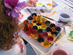 painting egg cartons