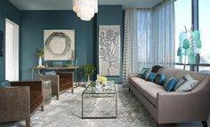 50 Living Room Paint Ideas  <3 <3  This blue is awesome!  Who wouldn't want this for their interior design?