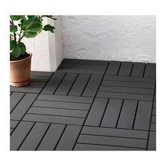RUNNEN Floor decking, outdoor - dark gray - IKEA: would be great for the balcony off the master bedroom.