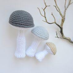 Champignons décoratifs en coton fait main : Accessoires de maison par ligne-retro
