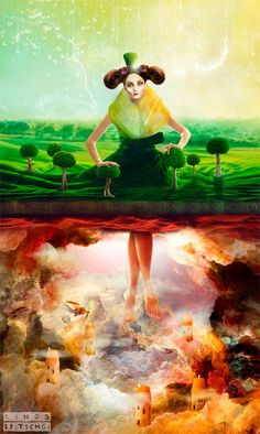 The mystical surreal fantasy art of Kinga Britschgi - Artists Inspire Artists