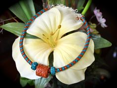 New leather jewelry design honors age-old traditions. Painted Desert choker with Turk's head by EncoreLeatherDesigns, $35.00