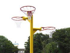 Triple Netball Posts, Basketball & Netball Posts, AMV Playgrounds.
