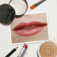 Quick Tip: If your lipstick feathers or bleeds, apply Absence with the Camouflage Brush to the outer edge of your lips. Then apply a thin layer of minerals to set Absence. Cover your entire lip with a Lip Definer, then apply your lipstick.