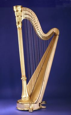 Harp is a multi-stringed instrument which has the plane of its strings positioned perpendicularly to the soundboard.Organologically, has its own sub category (the harps). All harps have a neck, resonator and strings. Some, known as frame harps, also have a pillar; those without the pillar are referred to as open harps.