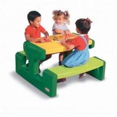 Buy your Little Tikes Picnic Table Primary from Kiddicare Childrens Table and Chairs