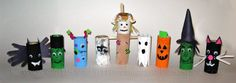 Toilet Paper Tube #Halloween Characters. A great arts & crafts project for the #kids.