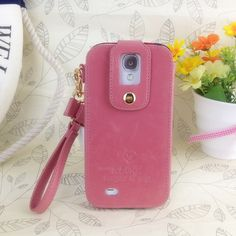 Klogi Case Cover Detachable Hand Strap for Samsung Galaxy S4 - Pink