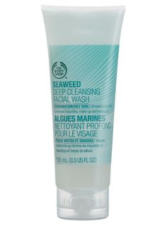 The Body Shop Seaweed face wash. I like this product. It is the best budget alternative I've found compared to my usual clarins face wash...and I've tried a lot of cheaper alternatives! Great if pennies are a bit tight one month or if I feel my skin needs a change of face wash (because we all need to change up our face products once in a while as our skin gets used to them and they stop being as effective as they were) so definitely worth a try for combination skin.