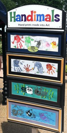 Handprint art...how adorable is that?!