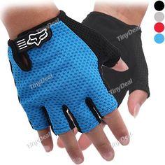 New Style Fox Biking Outdoor sport Gloves Mitten Blue Red Black Grey SBK-300128