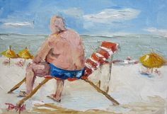 Beach People, painting by artist Delilah Smith